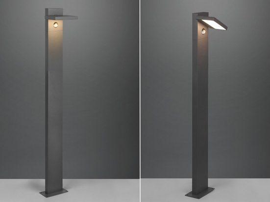 meineWunschleuchte LED Pollerleuchte, 2er Set Wegebeleuchtung für Außen mit Bewegungsmelder Outdoor Stehlampe schwenkbar Garten Terrassen-Leuchte, Anthrazit 100cm