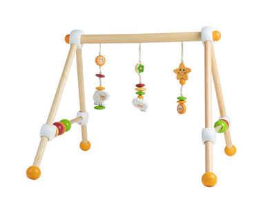 BIECO Baby Gym »Bieco Spieltrapez Schaf Spielbogen für Babys mit Figuren, Rasseln und Kugeln Spielebogen Holz Baby Spieltrapez Holz Mobile Holz Activity Center Baby Baby Gym Spielbogen für Babys Holz«