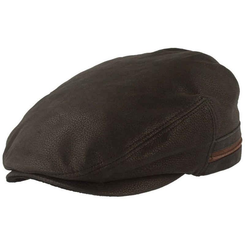 Stetson Schiebermütze Kent Leder Flatcap mit Ohrenklappen aus Fleece