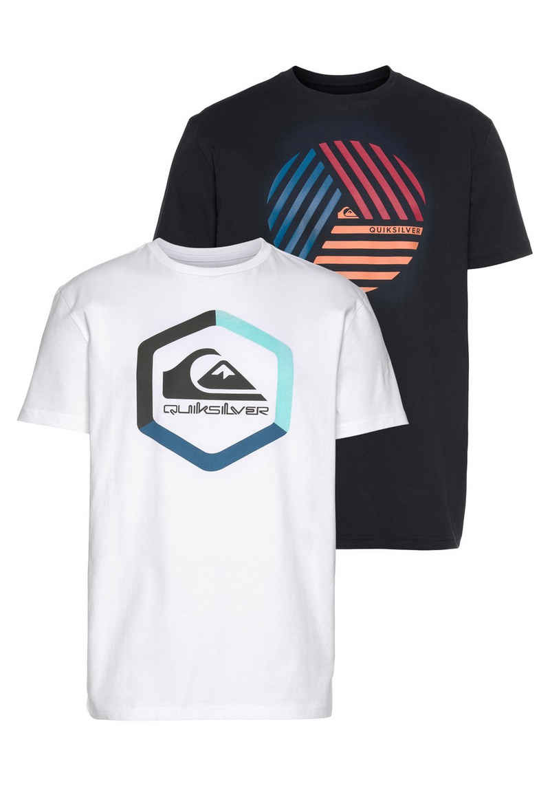 Quiksilver T-Shirt »BOLDNESS VOICES SS TEE PACK« (Packung, 2er-Pack)