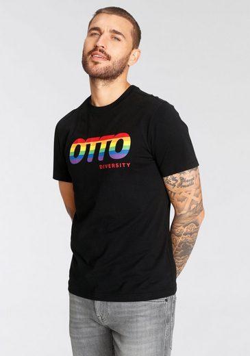 OTTO T-Shirt »OTTO Regenbogen Print Diversity« GOTS zertifizierte Herstellung