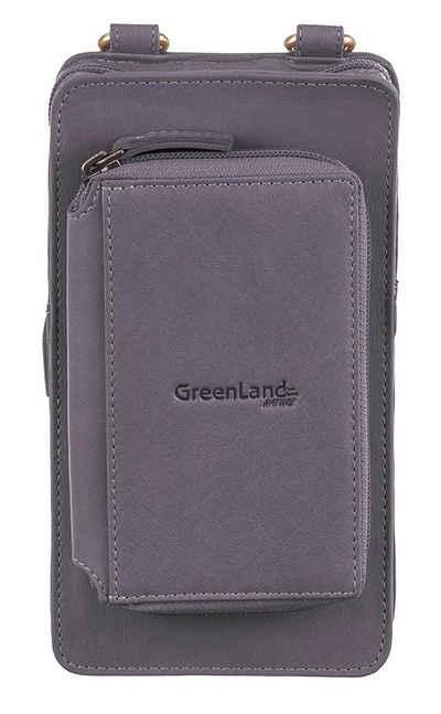 GreenLand Nature Handytasche »NATURE Soft«, mit aufgesetzter Börse und RFID-Schutz