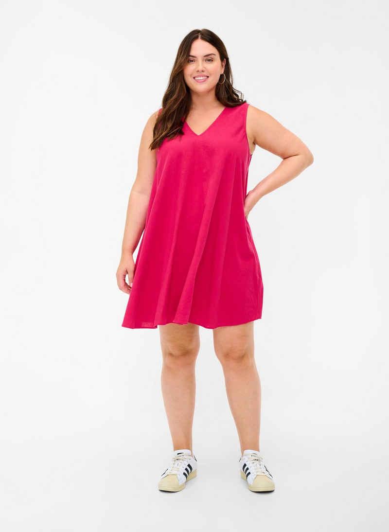 Zizzi Tunika Große Größen Damen Tunika Ärmellose Tunika aus Bio-Baumwolle mit V-Ausschnitt