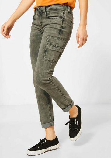 STREET ONE Slim-fit-Jeans »York« mit Oberschenkeltaschen