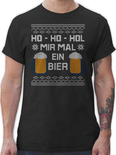 Shirtracer T-Shirt »Ho Ho Hol mir mal ein Bier - Weihnachten & Silvester - Herren Premium T-Shirt«