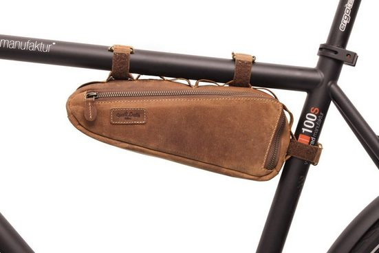 Gusti Leder Rahmentasche »Maurice G.«, Rahmentasche Fahrradtasche Ledertasche Vintage Braun Leder