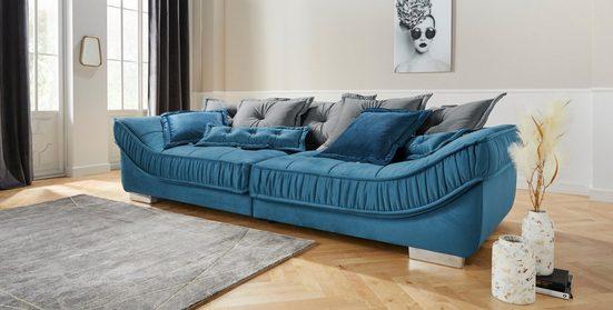 Leonique Big-Sofa »Diwan Luxus«, mit besonders hochwertiger Polsterung für bis zu 140 kg Belastbarkeit pro Sitzfläche