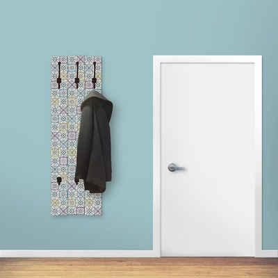 Artland Garderobenpaneel »Orientalischer Traum«, platzsparende Wandgarderobe aus Holz mit 5 Haken, geeignet für kleinen, schmalen Flur, Flurgarderobe