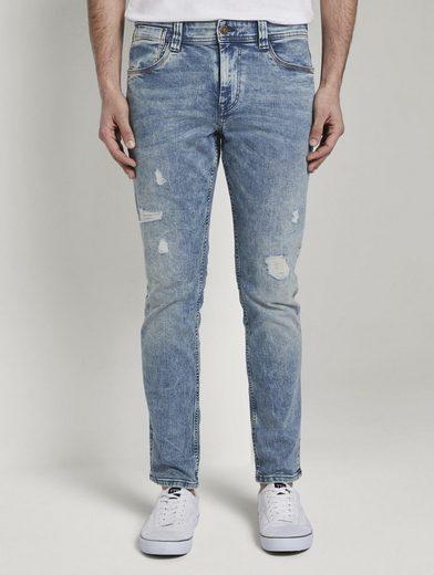 TOM TAILOR Slim-fit-Jeans »Josh Regular Slim Jeans mit versetzter Münztasche«