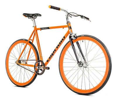 breluxx Cityrad »Singlespeed 700C/1, 28 Zoll Fixie Singlespeed Fastboy CityBike - orange«, 1 Gang, ohne Schaltung