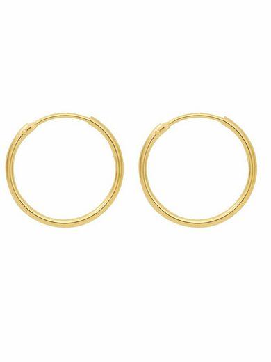 Adelia´s Paar Creolen »585 Gold Ohrringe / Creolen Ø 13 mm«, Goldschmuck für Damen