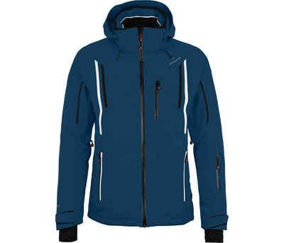 Bergson Skijacke »RILEY« Herren Skijacke, wattiert, 20000 mm Wassersäule, Kurzgrößen, poseidon blau