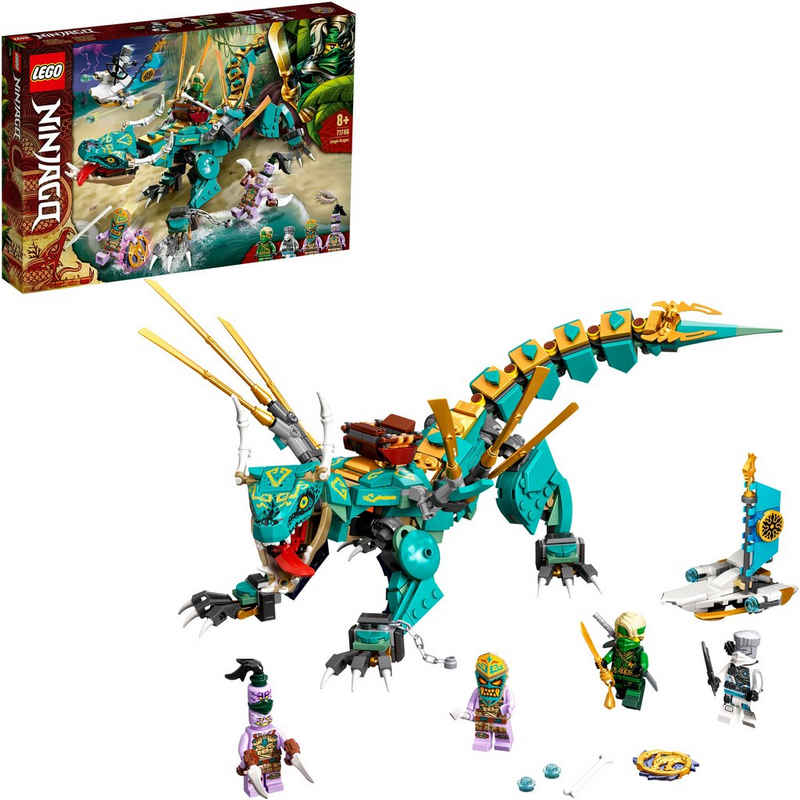 LEGO® Konstruktionsspielsteine »Dschungeldrache (71746), LEGO® NINJAGO®«, (506 St), Made in Europe