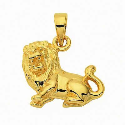 Adelia´s Kette mit Anhänger »585 Gold Sternzeichen Anhänger Löwe - Set mit Halskette«, 585 Gold Goldschmuck für Damen & Herren