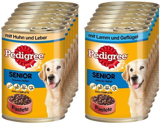 Pedigree Set: Hundenassfutter »Senior«, 12 Dosen á 400 g