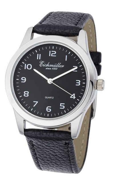 Eichmüller Quarzuhr »Herrenuhr RE1001 schwarz Lederband 39 mm«
