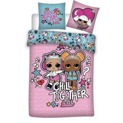 Kinderbettwäsche »Chill Together Mikrofaser Bettwäsche«, LOL Surprise, 135-140x200 cm Deckenbezug, 63x63 cm Kissenbezug