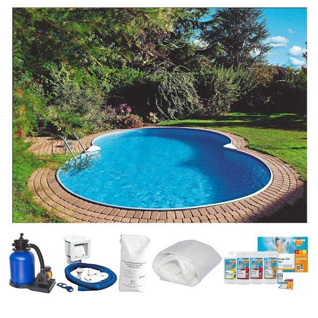 Clear Pool Set: Achtformpool Premium Mallorca (6-tlg.)