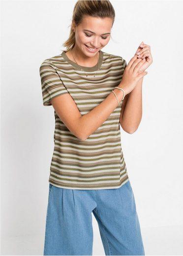 bonprix T-Shirt »T-Shirt mit Streifen«