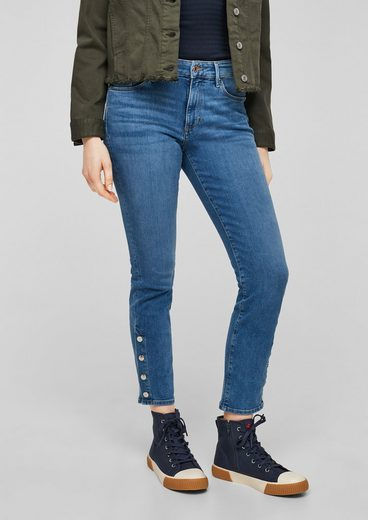 s.Oliver 7/8-Jeans »Slim Fit: 7/8-Jeans mit Knopfleiste«