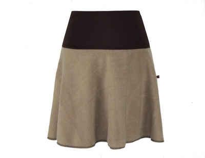 dunkle design Minirock »Fleece 45cm Farbwahl« elastischer Bund