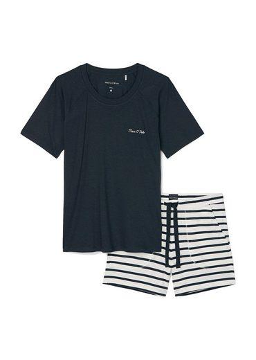 Marc O'Polo Pyjama »Damen Shorty-Pyjama Set 2-tlg. - W-Loungeset,«