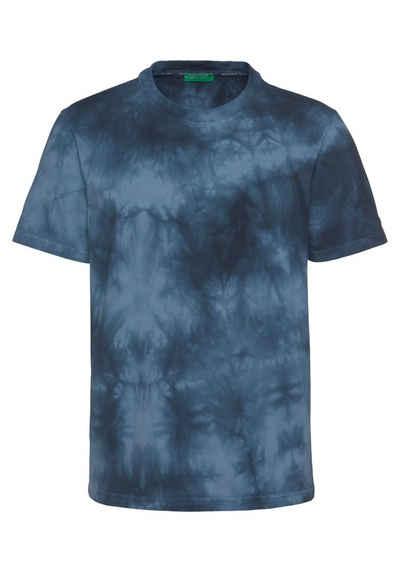 United Colors of Benetton T-Shirt mit Batikfärbung