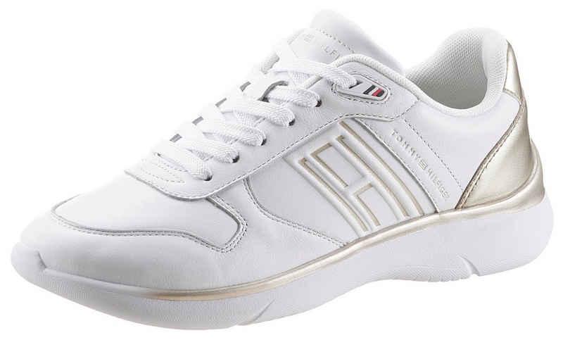Tommy Hilfiger »LEATHER LIGHTWEIGHT SNEAKER« Keilsneaker mit goldfarbenen Akzenten