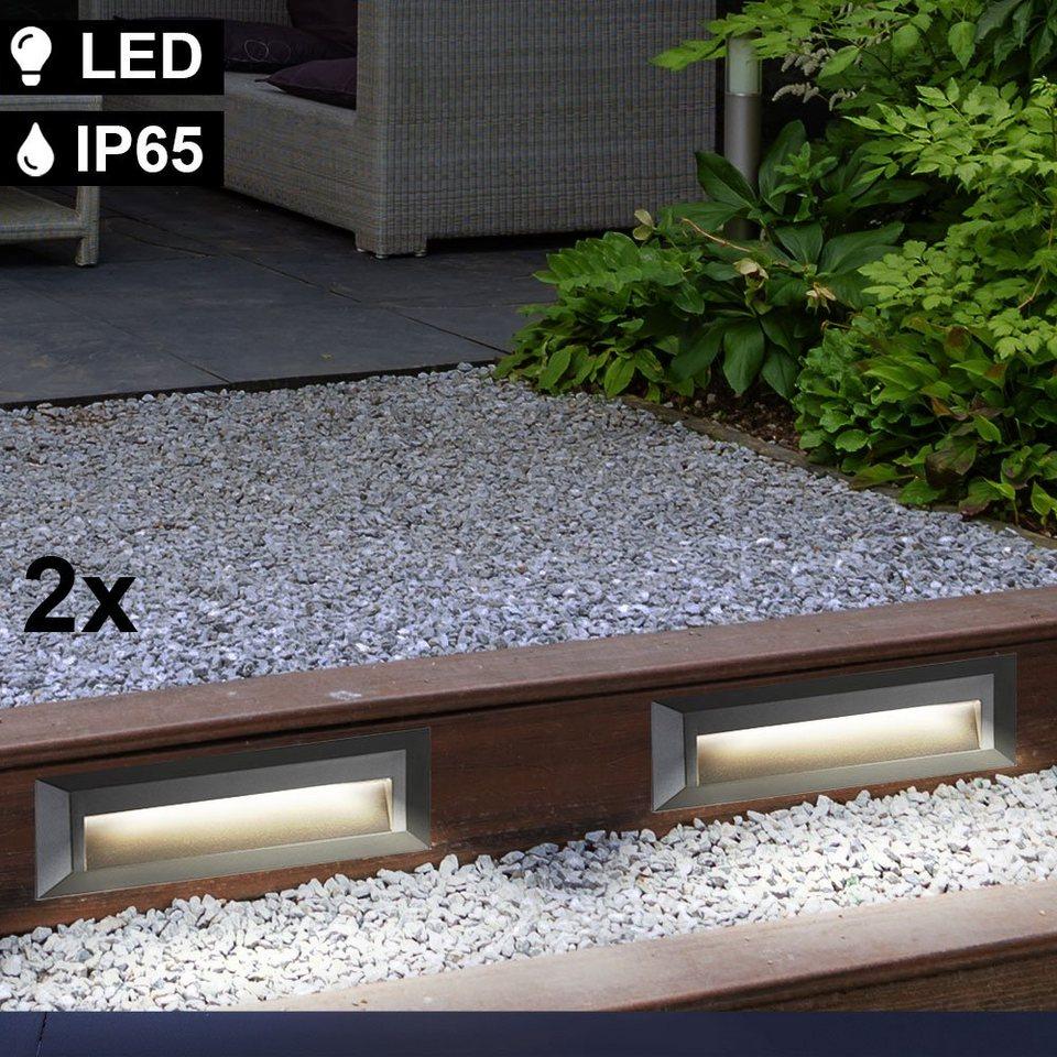 etc shop Außen Wandleuchte, 20er Set LED Außen Stufen Lampen Wand Leuchten  grau Garten Terrassen Treppen Beleuchtung online kaufen   OTTO