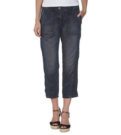 OPUS Caprihose »OPUS Melva Jeans modische Damen Capri-Hose im Denim-Look und Five-Pocket-Style Alltags-Jeans Blau«