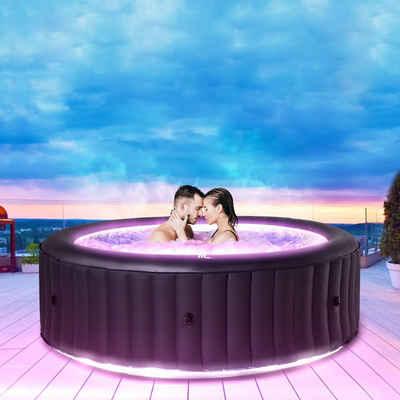 mSpa Whirlpool »Urban Aurora U-AU061 aufblasbarer Outdoor Pool«, LED-Beleuchtung, Integrierter Ozongenerator, UV-C Wasserreinigung, Für 6 Personen
