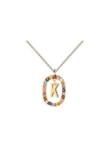 PDPAOLA Halsband »Buchstabenkette K«