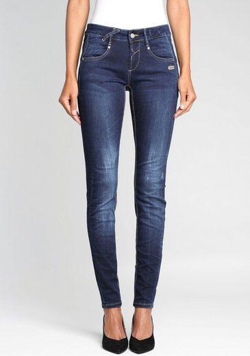 GANG Skinny-fit-Jeans »Nele« mit gekreuzten Gürtelschlaufen links vorne