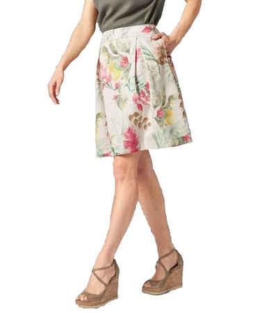 GUIDO MARIA KRETSCHMER Minirock »GUIDO MARIA KRETSCHMER Mini-Rock floraler Damen Sommer-Rock mit Kellerfalten High Rise Rock Bunt«