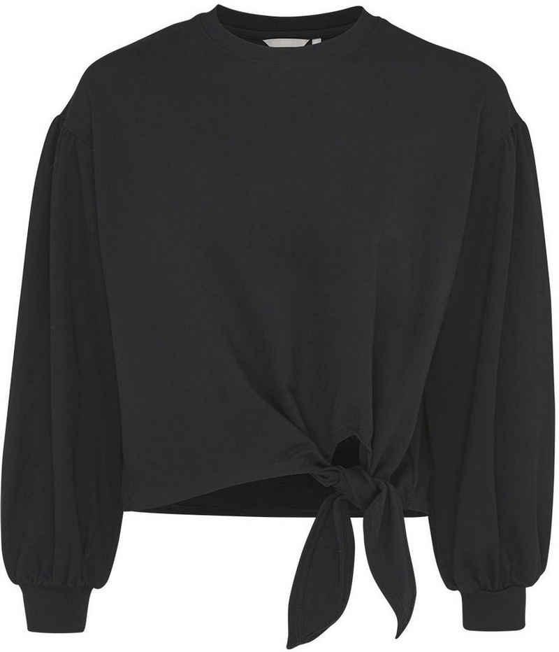 Mexx Langarmshirt mit tollem Knoten-Detail und modischen Puffärmeln