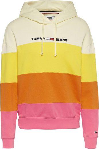 Tommy Jeans Kapuzensweatshirt »TJW COLORBLOCK HOODIE« im Colorblocking Streifen & gesticktem Tommy Jeans Logo-Schriftzug