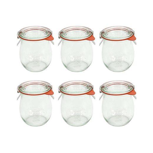 BUTLERS Einmachglas »WECK 6x Einkochglas Mini-Tulpenform 220ml«