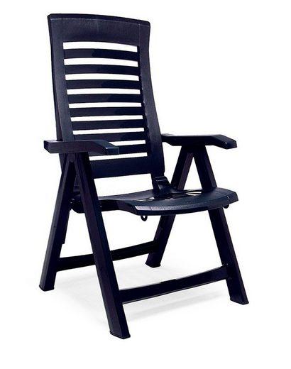 Best Gartenstuhl »Florida« (Set, 2 Stück), 2er Set, Kunststoff, verstellbar, blau