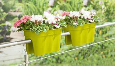 KHW Balkonkasten »Flowerclip XXL« (Set, 2 Stück), BxTxH: 57,5x27,7x27 cm