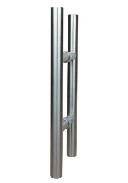 Levidor Glasschiebetür Eco 4 Streifen mit Stangengriff, weiß