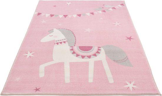 Kinderteppich »Pferd Lotti«, LUXOR living, rechteckig, Höhe 12 mm, Spielteppich, Pastell-Farben