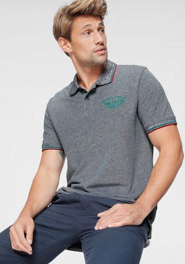 TOM TAILOR Poloshirt mit Kontrastfarben