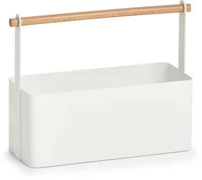 Zeller Present Allzweckkorb (1 Stück), Holz/Metall, im Scandi Design