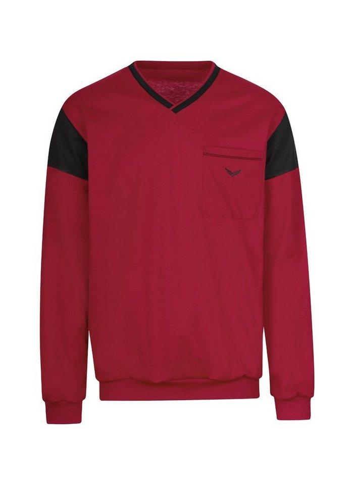 trigema -  V-Shirt mit Brusttasche