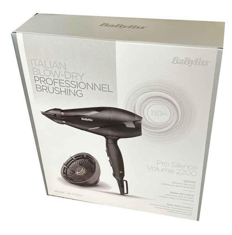 BaByliss Haartrockner Profi-Haartrockner Pro Silence Ionic 2200 Watt