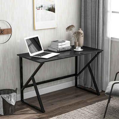 Flieks Schreibtisch »kreative« (1-St), Computertisch mit K-förmigen Tischbeine, 120x60x75cm