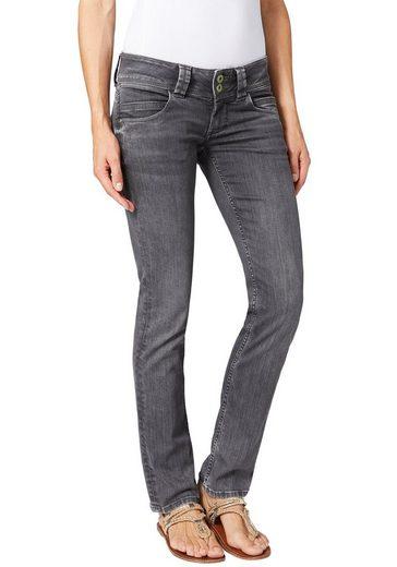 Pepe Jeans Straight-Jeans »VENUS« mit niedriger Leibhöhe und schöner Waschung