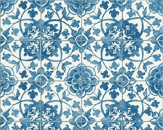living walls Schaumtapete »Simply Decor«, aufgeschäumt, floral, urban, Retro, used, Ethnomuster, (1 St), aufgeschäumt