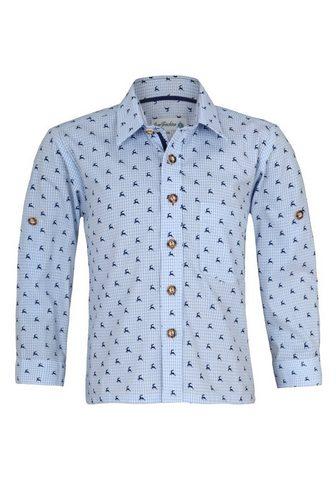 Isar-Trachten Tautinio stiliaus marškiniai su Knöpfe...