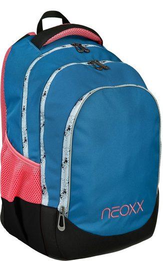 neoxx Schulrucksack »Fly, Splash«, aus recycelten PET-Flaschen